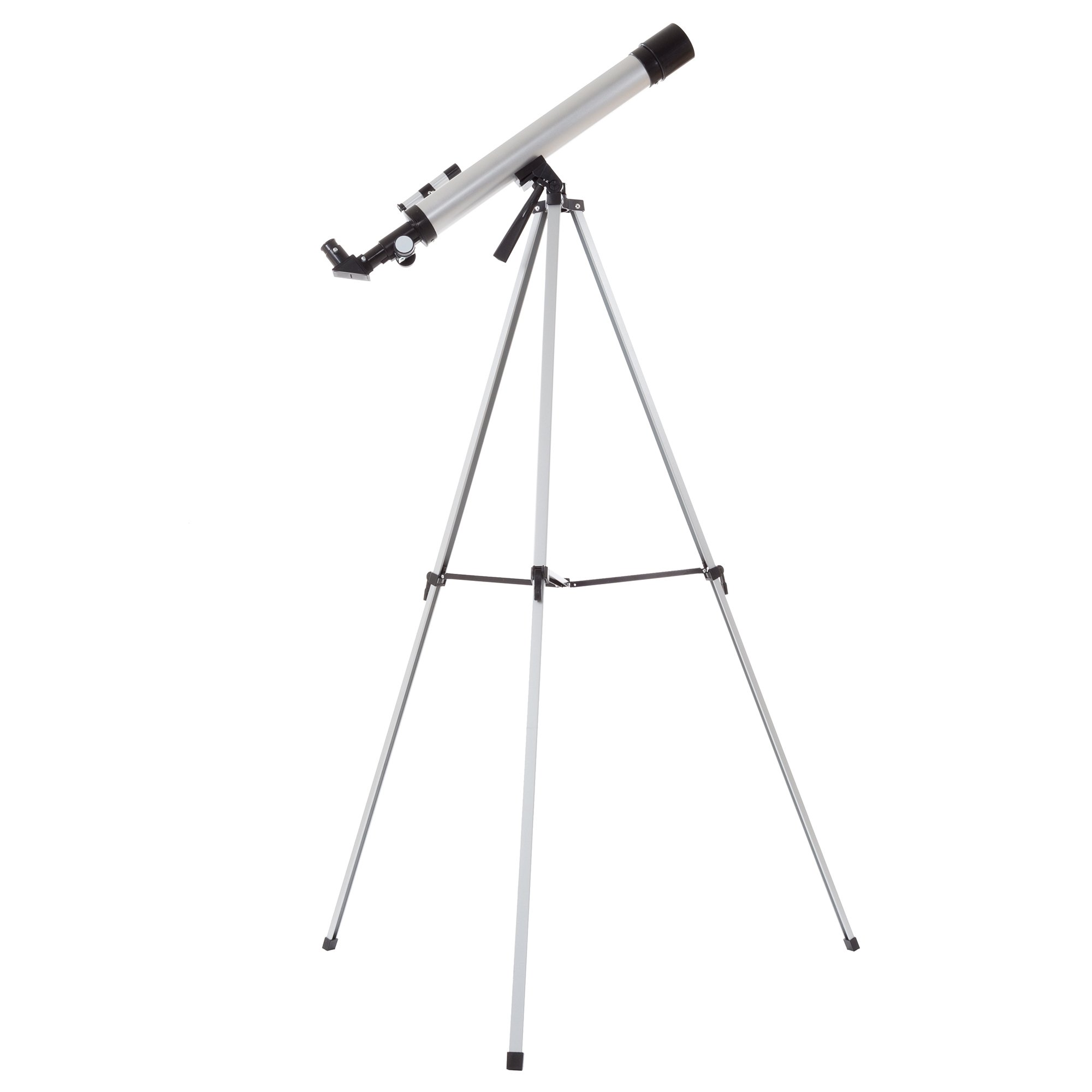 Hey! Play! 60mm Mirror Refractor Telescope - Aluminum Stargazing Optics with Tripod for Beginner Astronomy and STEM Education for Kids and Adults by Hey! Play!