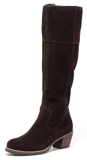 ECHT LEDER Damen Stiefel Lederstiefel Country Style Gr.37 39 DUNKELBRAUN BRAUN