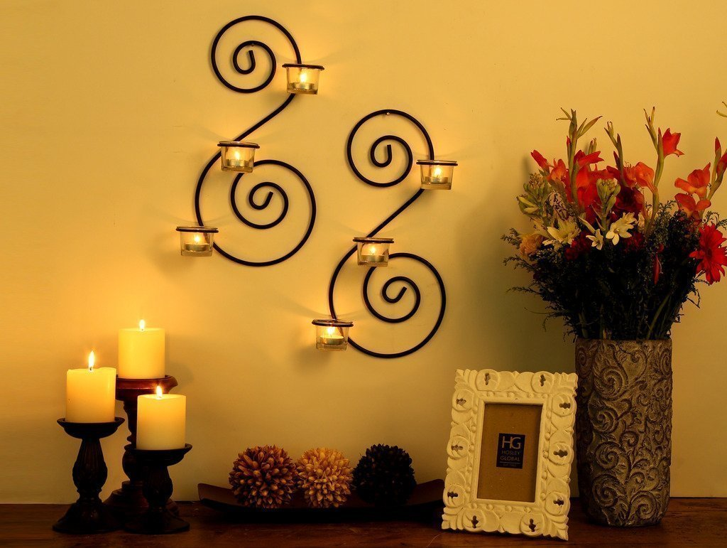 Buy Collectible India Set of 2 Wall sconces Tealight Candles Holders ...
