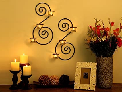 Craftvatika set di supporti da parete sconces candele tealight