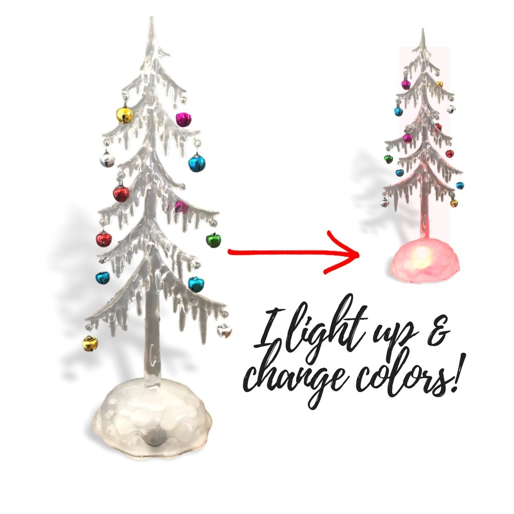 Amazon.com: BANBERRY DESIGNS Light Up Acrylic Trees - Set of 2 LED ...