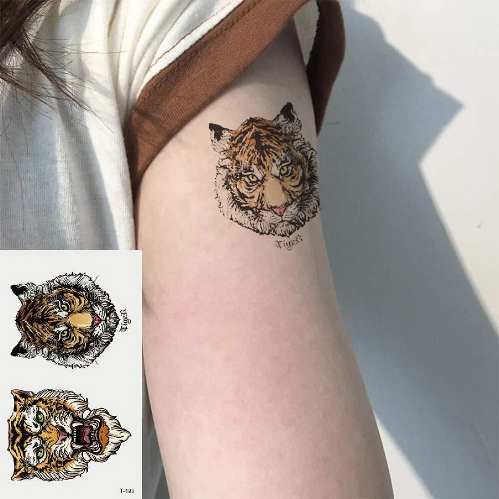 Oottati 2 Hojas Pequeño Lindo Tatuaje Temporal Tattoo Tigre ...