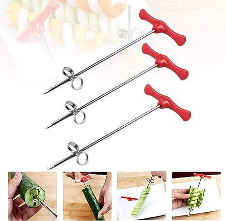 Hand Roller Spiral Slicer Vegetable Spiral Cutter Fruit Carving Tools KL