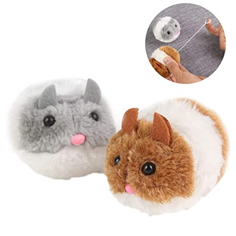 Legendog Juguete del ratón Juguete Interactivo Vibrante para el Gato Gatito Flexible de Felpa Vibrante para