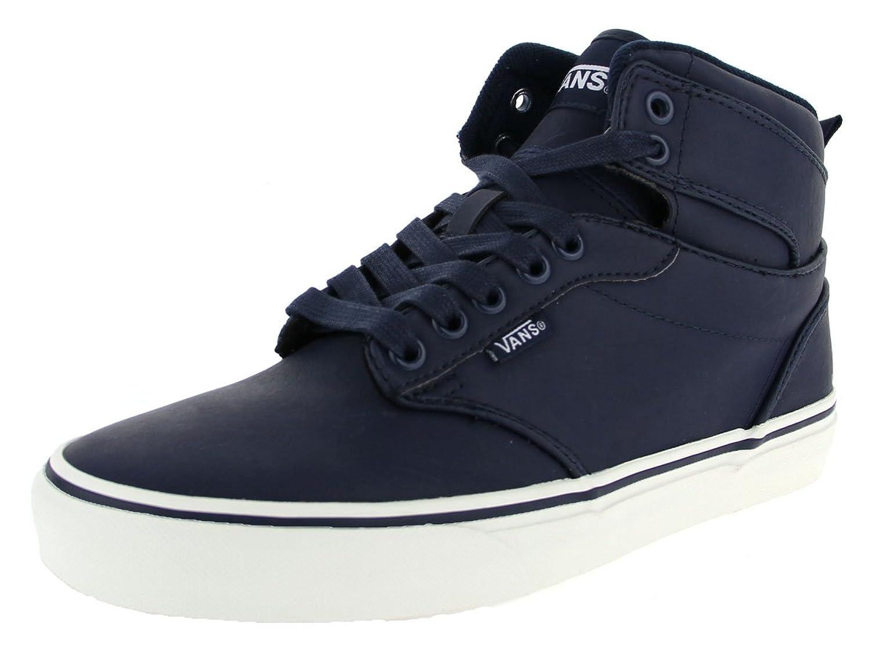 Vans Atwood Hi Shoes UK 12 Leather Dress Blues Marshmallow MZdeW8gn3B