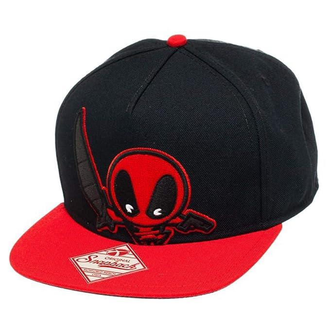 7dbfffdedfd Mavel Kawaii - Deadpool Snapback Hat Size ONE SIZE at Amazon Men s ...