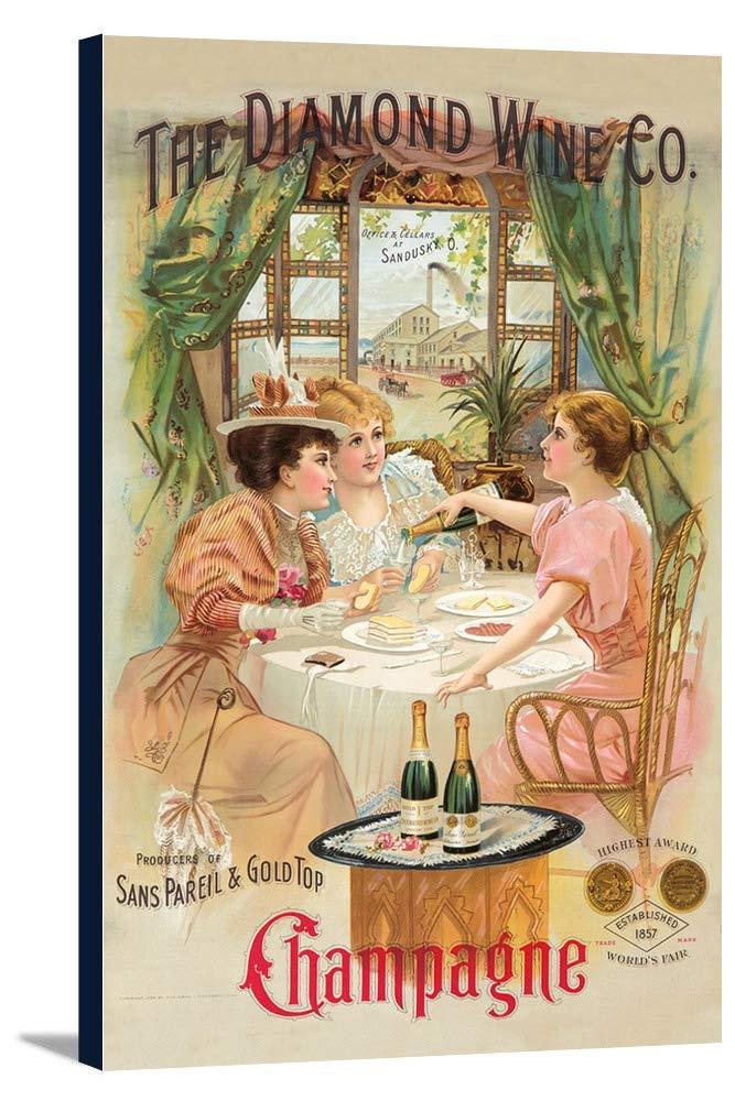 TheダイヤモンドワインCoヴィンテージポスター(アーティスト:匿名) USA C。1896 16 x 24 Gallery Canvas LANT-3P-SC-73850-16x24 B01DZ1YW0O  16 x 24 Gallery Canvas