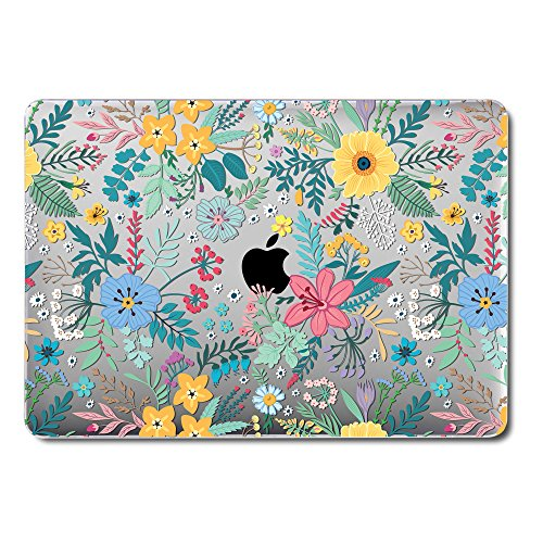 GMYLE MacBook Pro 13 Inch Case 2018 with Touch Bar, Soft-Touch Smooth Snap On Plastic Hard Clear Cover for Apple Mac Pro 13 A1989 A1706 A1708 2016 2017 Release - Cheery Fresh Floral