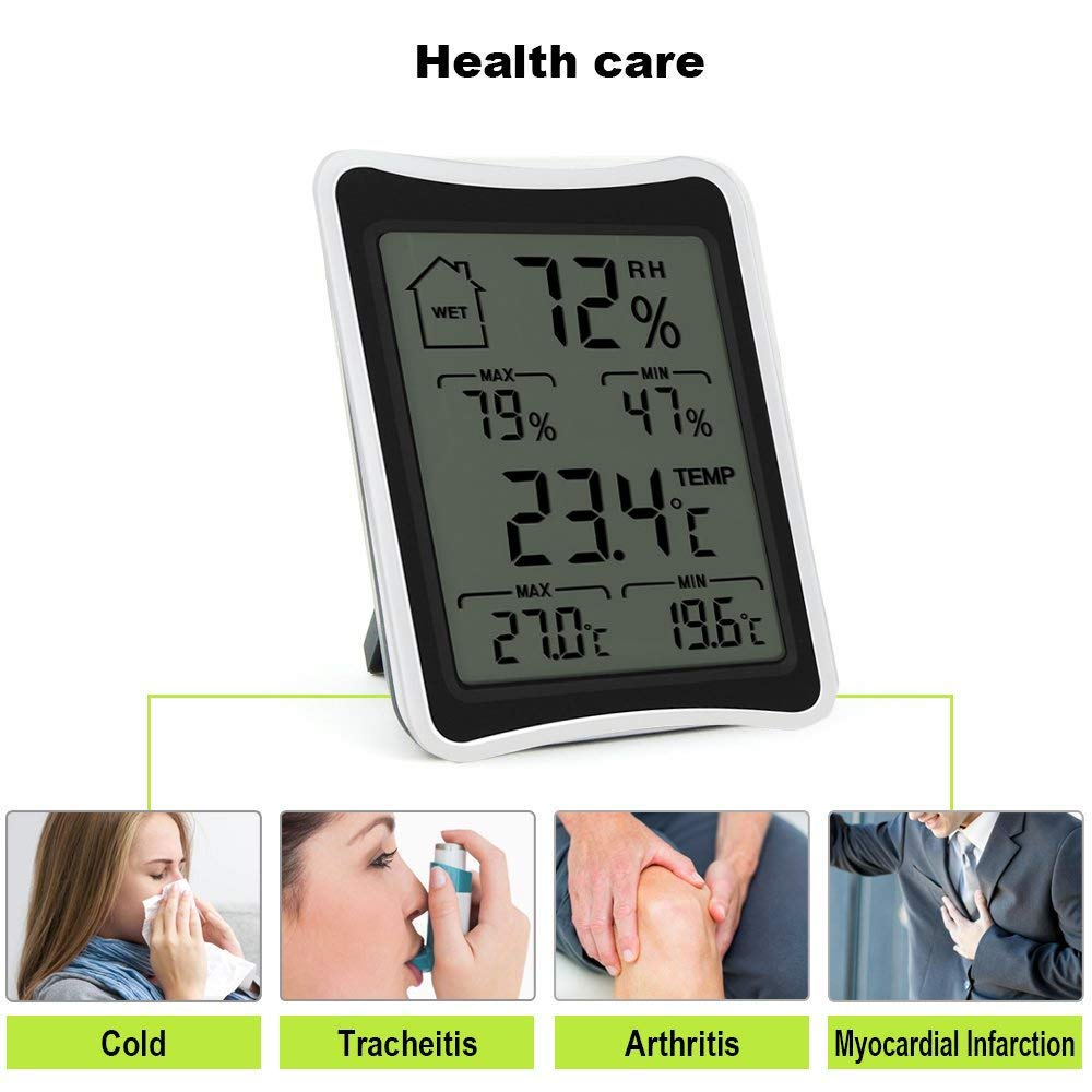 ShenLong Indoor Hygrometer,Digital Thermometer Humidity Monitor with Temperature Humidity Gauge
