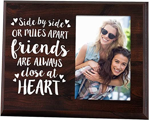 """Side By Side Or Miles Apart"" Friendship Photo Frame"