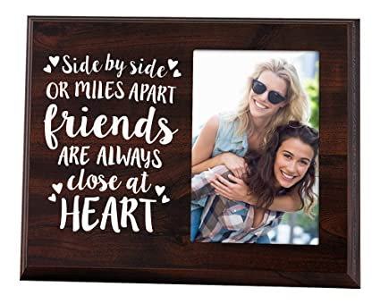 Elegant Signs Side By Side Or Miles Apart 4x6 Going Away Picture Frame For Your Bestie