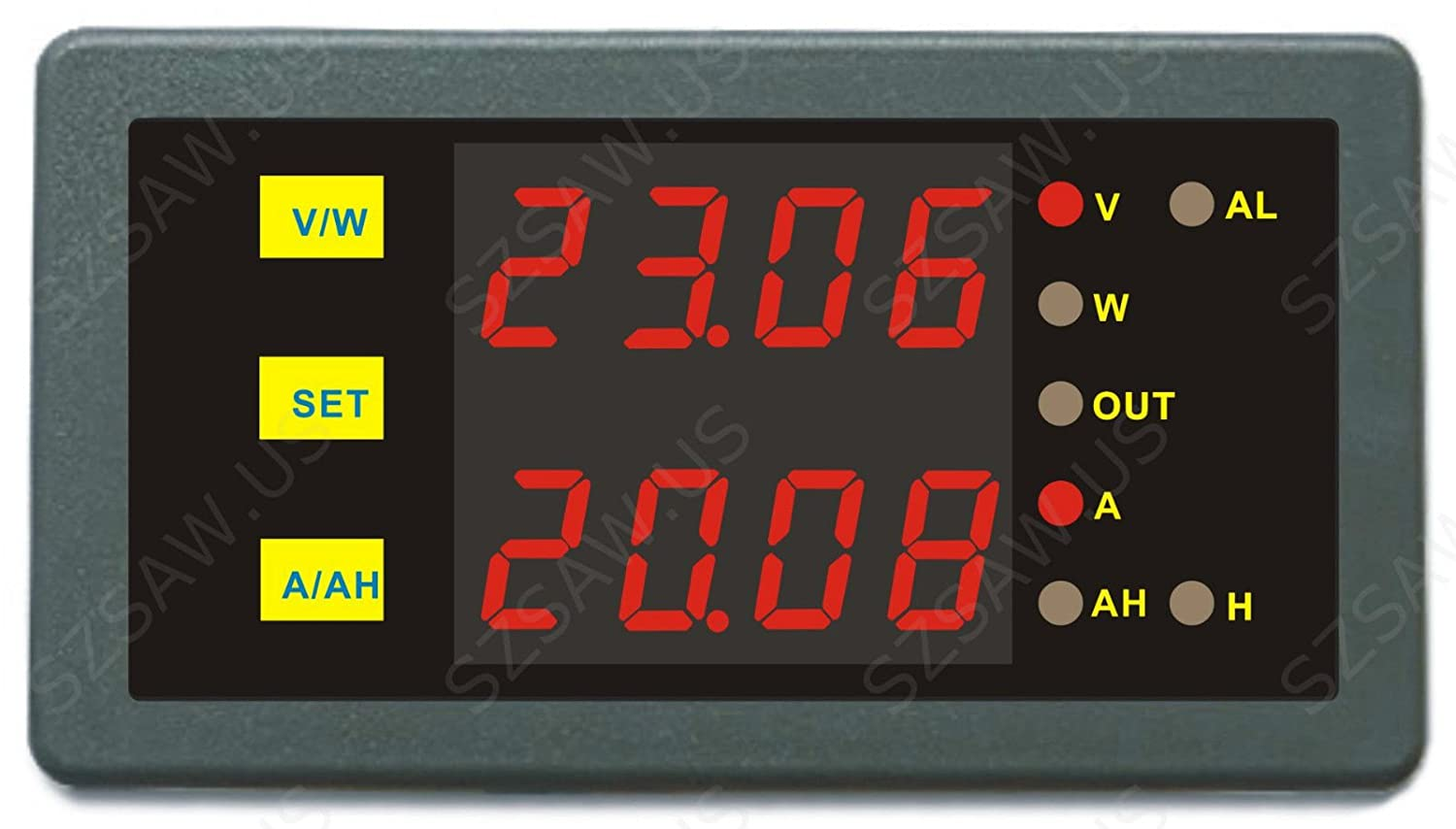 AILI Programmable Digital Dual Display 90V 250A Combo Meter Voltage Amp Power Ah Hour Meter Test Elite element EL9040B