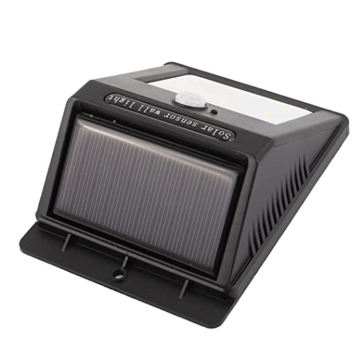 La lámpara PIR del sensor de movimiento CDS eDealMax Solar LED de pared de luz 6 LED a prueba de agua al aire libre Jardín - - Amazon.com