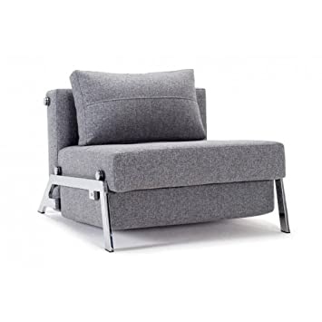 Innovation Living Fauteuil Design Sofabed Cubed Chrome Twist Granite
