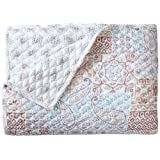 Stylemaster Twill and Birch Casey Reversible Quilted Bedspread, King, Dune