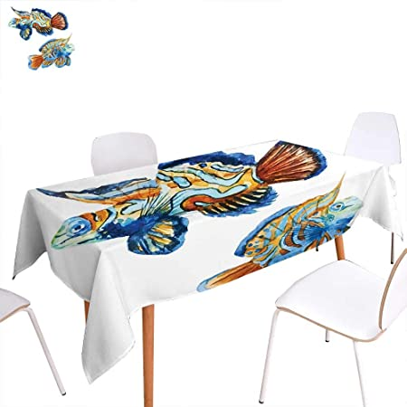 Review familytaste Fish Printed Tablecloth