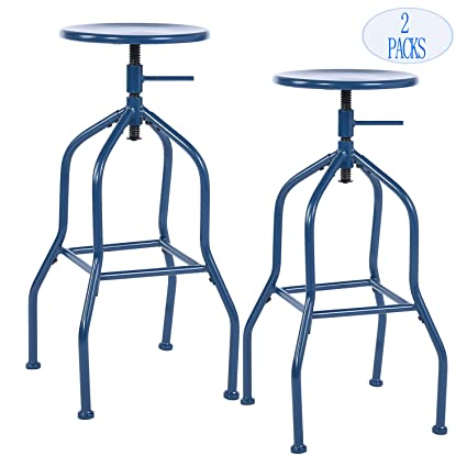 Super Bar Stools Barstool Backless Swivel Bar Chairs Bistro Pub Chair Cafe Coffee Metal Counter Height Adjustable Industrial Barstools With Footrest Machost Co Dining Chair Design Ideas Machostcouk