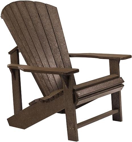 Recycled Plastic Adirondack Chair, Chocolate, 32 L x 31 W x 40-1 2 H