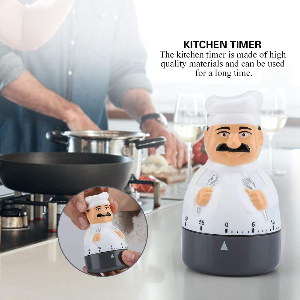 Chef Timer Dial Kitchen Timer Cooking Alarm Analogue Clock Bell ...