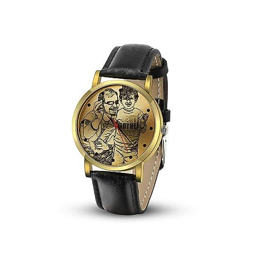 Reloj Artesanal con Foto Personalizada Relojes Personalizados con Foto Relojes Fotográficos Personalizados para Hombre Relojes con Banda de Cuero 40mm ...