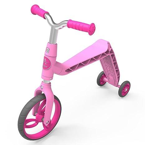AEST Correpasillos Y Patinete 2 En 1 Bicicleta Sin Pedales Reversible Scooter 3 Ruedas Niño Niña