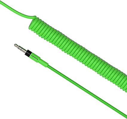 Neon Green Teenage Engineering TE Audio Cable Reg Curly Long 3.9