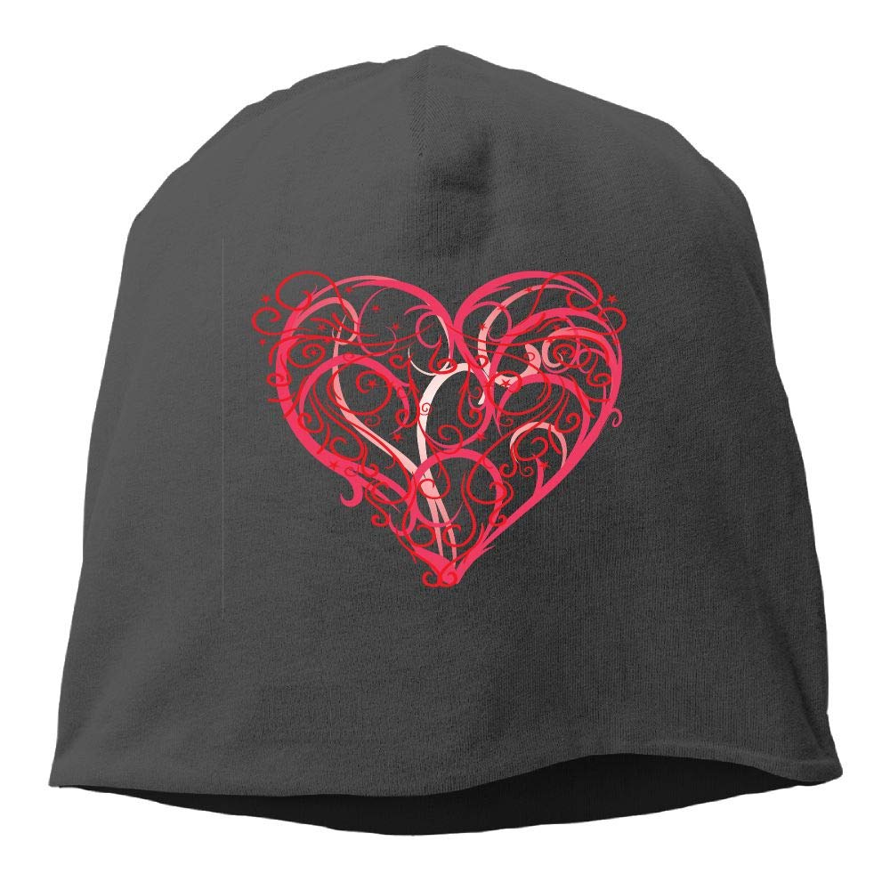 Janeither Headscarf Abstract Heart Hip-Hop Knitted Hat for Mens Womens Fashion Beanie Cap