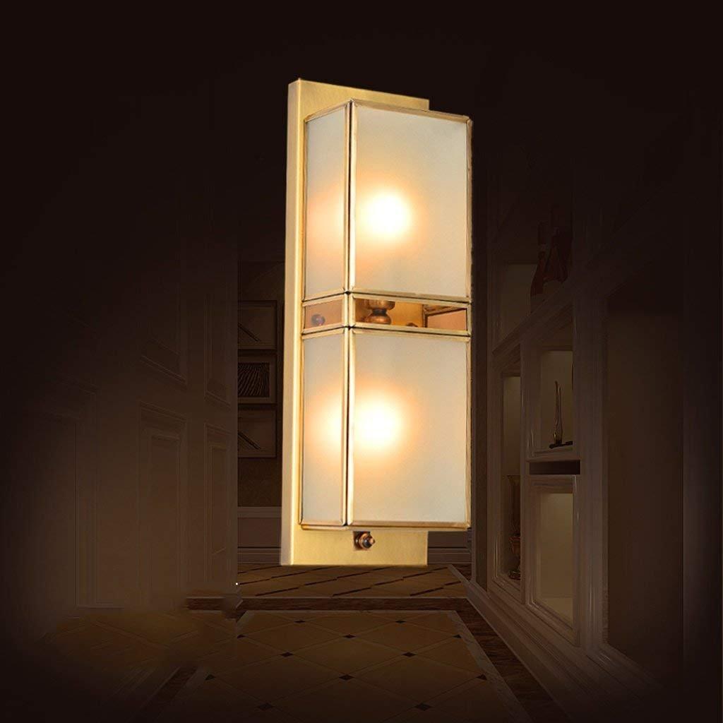 JU LED LED LED Europäischen Voller Kupfer Wandleuchte Korridor Lampe Ganglichter Eingang Wohnzimmer Schlafzimmer Nachttischlampe Außenwandleuchte B07HL737M4 | Mode-Muster  50562c