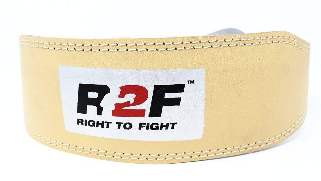 R2F Sports Peso Levantamiento Cinturón Natural Marrón Color Levantamiento de Pesas Fuerza Formación Culturismo Aptitud Ejercicio Cinturón