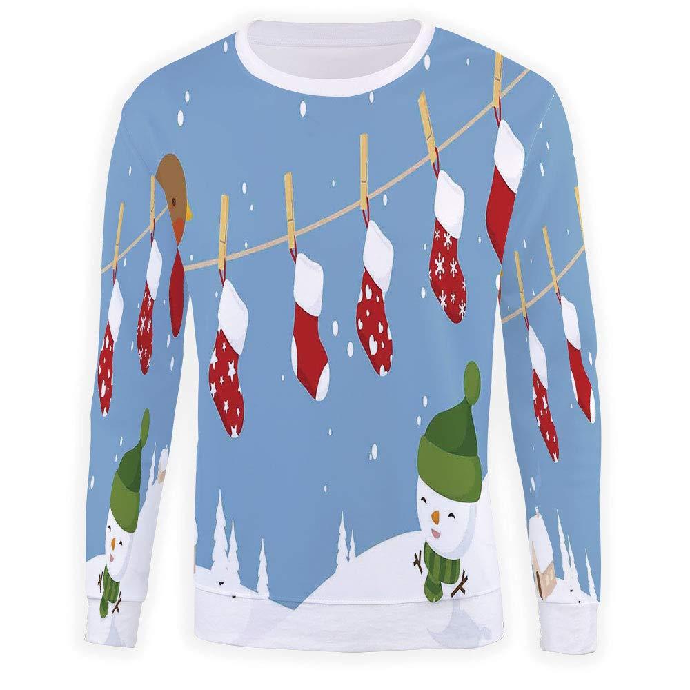 MOOCOM Mens Christmas Decorations Sweatshirt Pullover