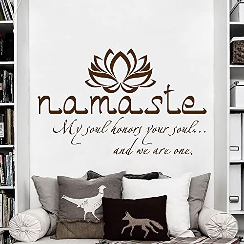 Amazon.com: Namaste Wall Decal Quote Vinyl Sticker Decals Quotes ...