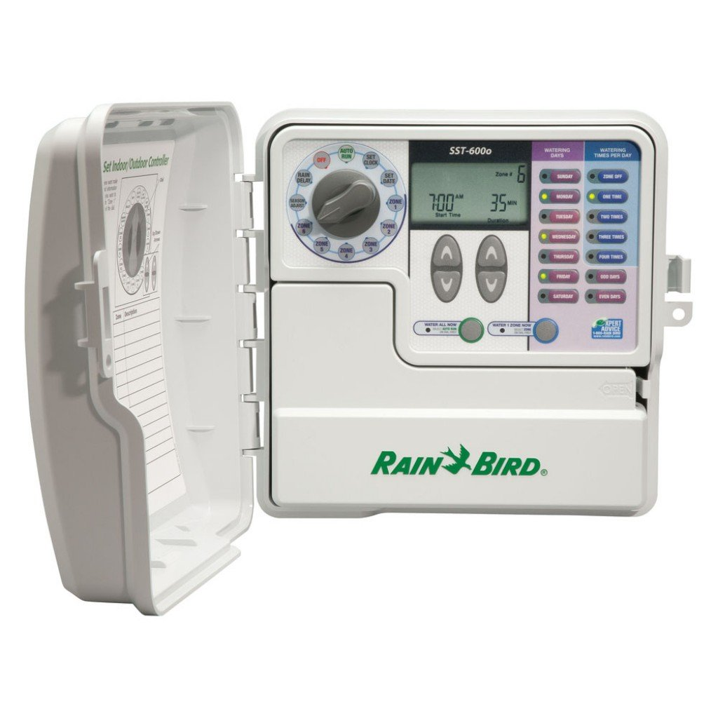Rain Bird SST-600O Simple to Set Indoor/Outdoor Timer, 6-Zone (Discontinued by Manufacturer; replaced by SST600OUT) by Rain Bird (Image #1)