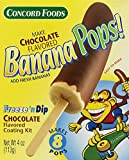 Concord Foods Chocolate Banana Pop Kits, 4-ounce Kits (VALUE Pack of 6 Kits)