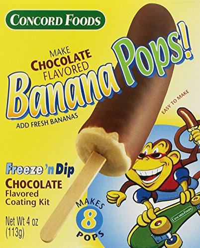 Concord Foods Chocolate Banana Pop Kits, 4-ounce Kits (VALUE Pack of 6 Kits) ()