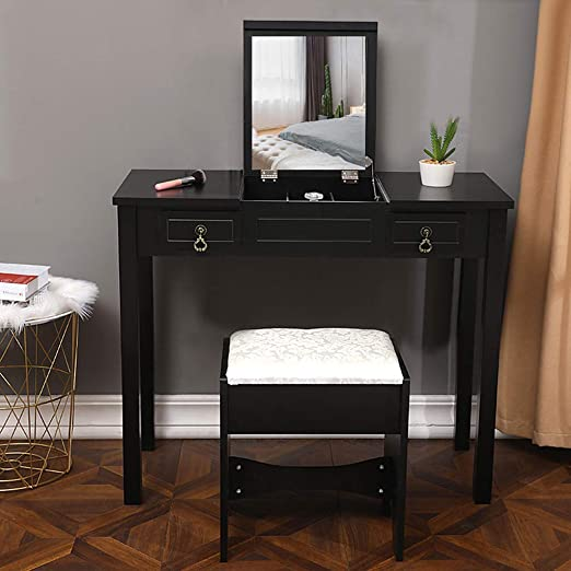 Amazon.com: Heberry Vanities Set 2 in 1 Vanity Benches with ...