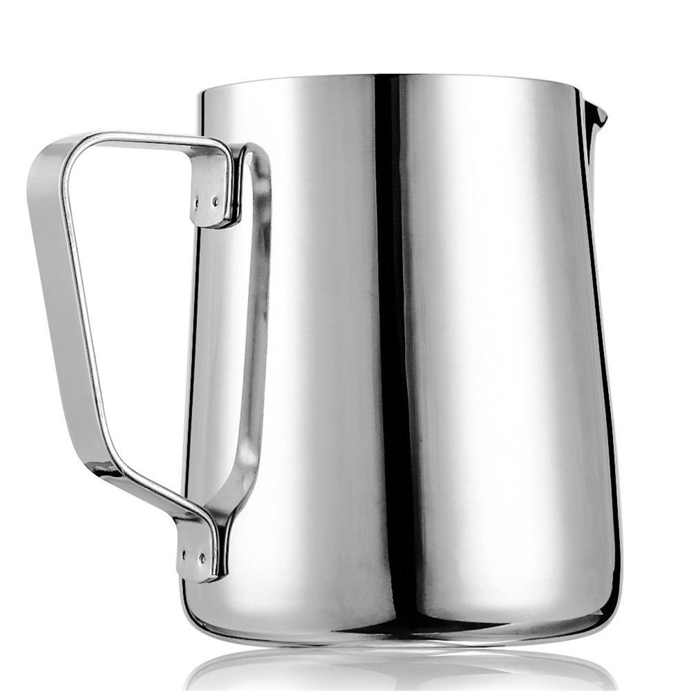 X-Chef Frothing Pitcher Stainless Steel Milk Pitcher 12 oz (350 ml) by X-Chef (Image #2)