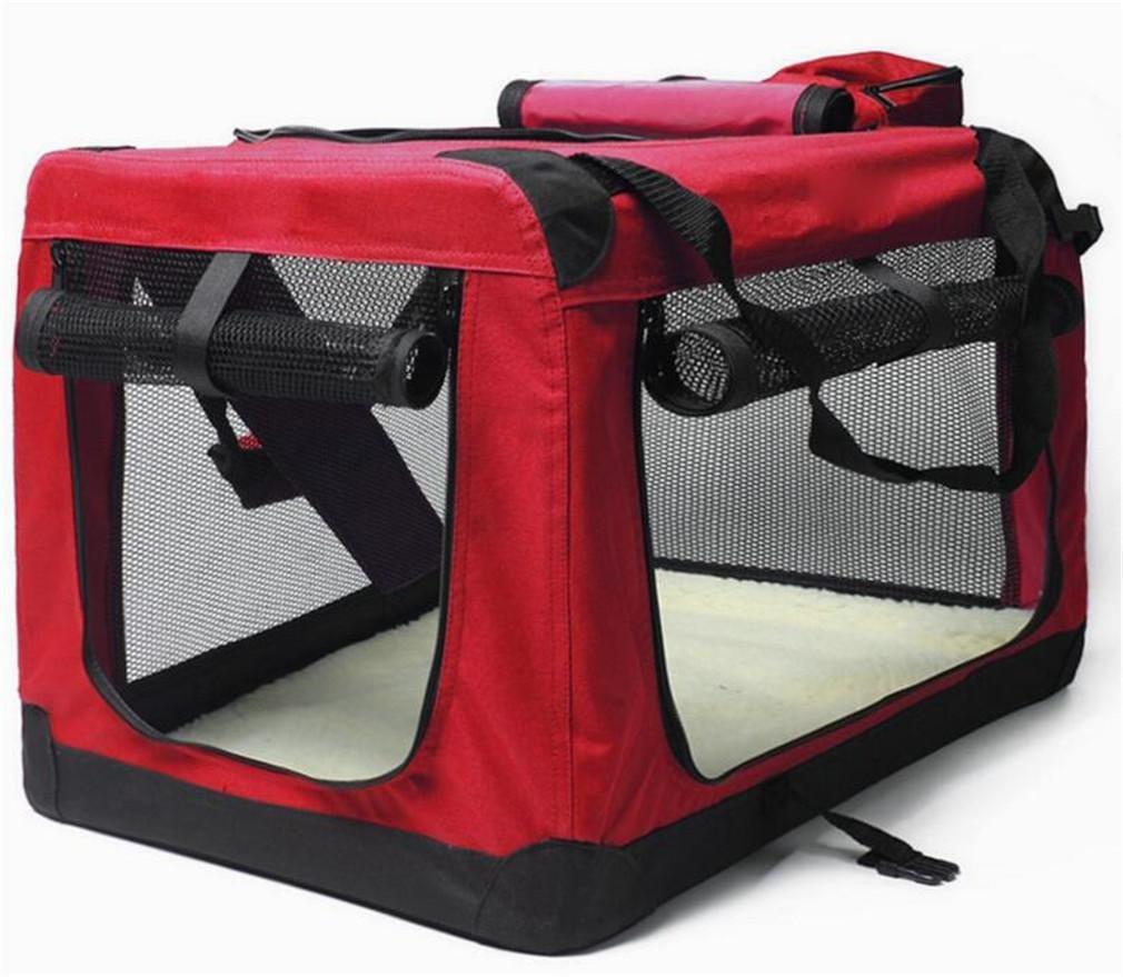 FSOSOO Haustier-Rucksack Pet Carrier faltbare Handtasche Auto-Paket Soft-Sided Mesh Fenster Outdoor Wandern kleine mittlere Hunde