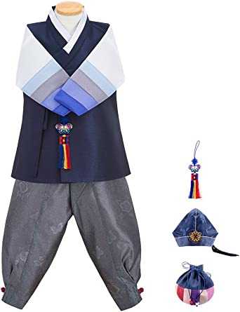 Made in Korea Dol Bok from Age 1 to 15 6 Items Total Skyroad Korean Traditional Hanbok Set Baby Through Girl