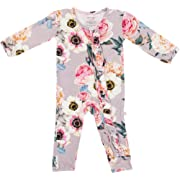 Posh Peanut One Piece Romper Silky Soft & Breathable - Premium Knit Infant Clothing - Bamboo Viscose (French Gray, 6-9 Months)