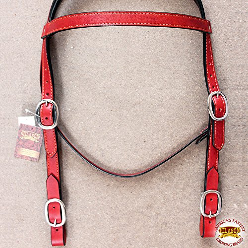 - HILASON Western Leather Draft Horse Bridle Headstall Oversize Mahogany