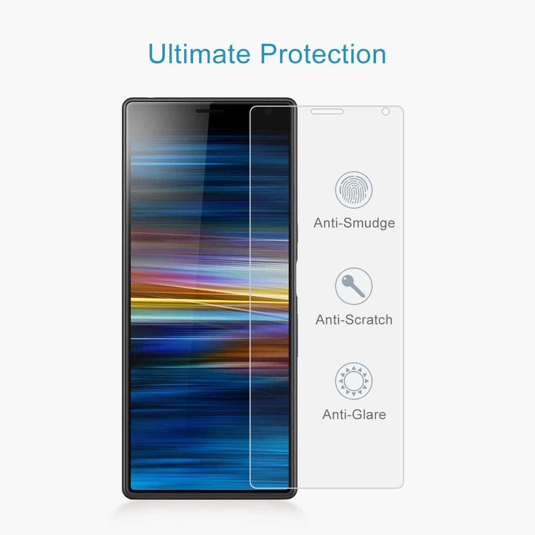 Leya Screen Protector 100 PCS 0.26mm 9H 2.5D Tempered Glass Film for Sony Xperia 10 Plus