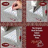 Madam Sew Heat Erasable Fabric Marking Pens with