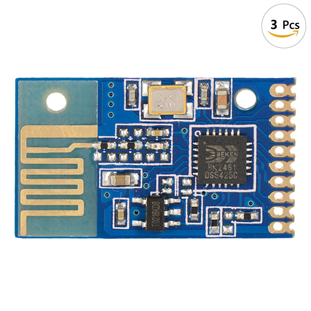 JAMOR New 0.06mA Low-Power Switch 2.4g Wireless Transceiver Module 6-Channel Transmission Free Programming Remote Module (3, Receive module)