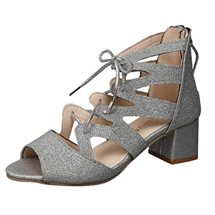 c1ef4b88e Image Unavailable. Image not available for. Color: Women Gladiator Sandals  Sequins Peep Toe ...
