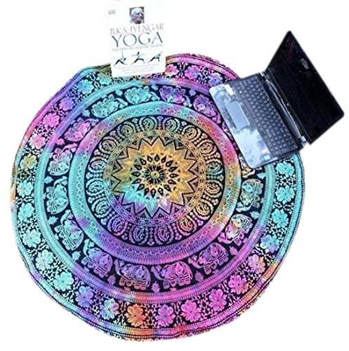 Kimloog Round Chiffon Beach Towel Pool Home Shower Towel Blanket Table Cloth Yoga Mat Couch Cover up