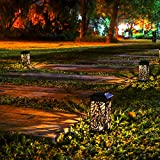 Solar Powered LED Garden Pathway Lights,Ideal for Halloween Decorations, Automatic Led Decorative Landscape Lighting Driveway Security Lights for Garden Patio Lawn Yard