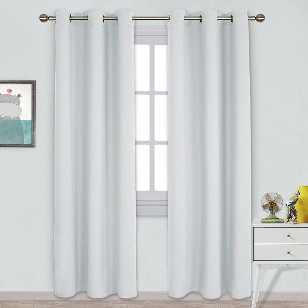 Nicetown Easy Care Solid Thermal Insulated Grommet Room Darkening Curtain / Drape for Bedroom