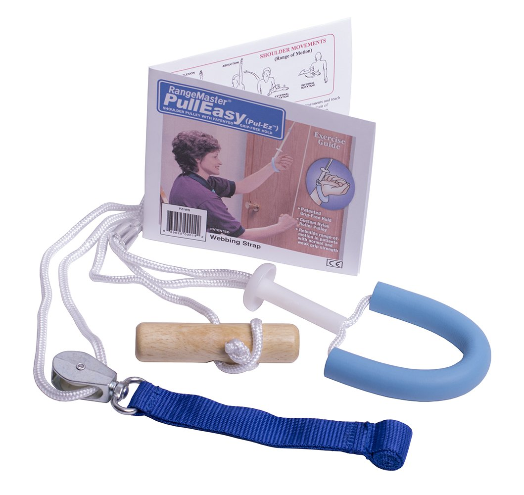 Pull-Easy Grip Free Shoulder Pulley with Patient Guide - Web Strap Door Attachment