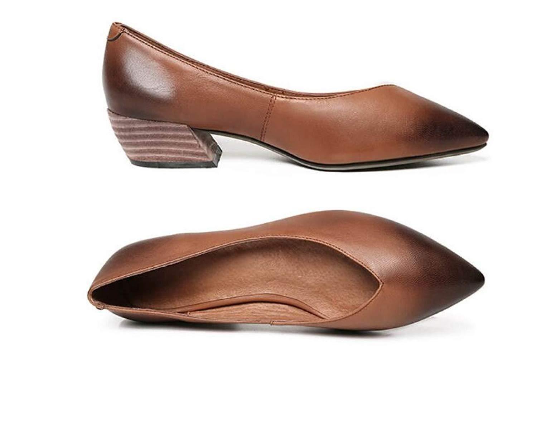 Willsego Retro V-Port Loafers flachen Mund Flache Schuhe Schwangere Schwangere Schwangere Schuhe (Farbe   Braun Größe   33) 689c3b