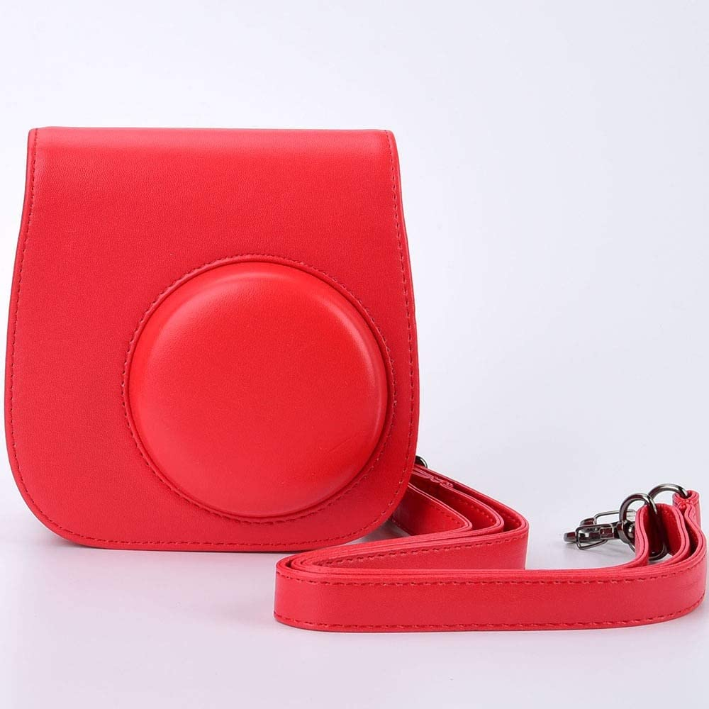 Leather Camera Shoulder Strap Bag Protect Case Pouch for Fujifilm Instax Mini 9 Mini 8 Mini 8 Cases Film Cameras Color : C029 Rosepink